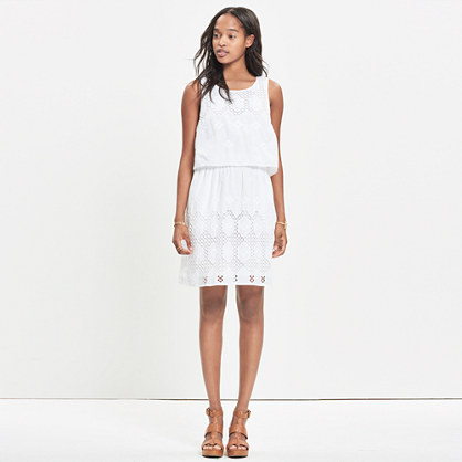 Eyelet Overlay Dress