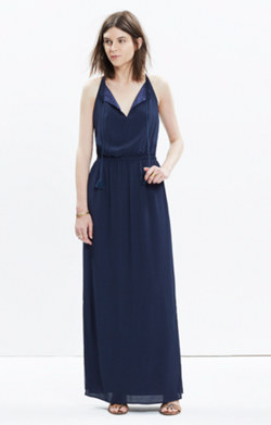 Tassel-Tie Maxi Dress
