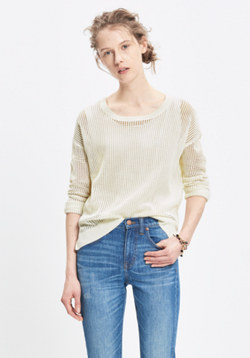 Open-Knit Pullover Sweater