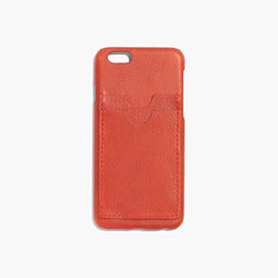 Leather Carryall Case for iPhone® 6 in Thai Chili