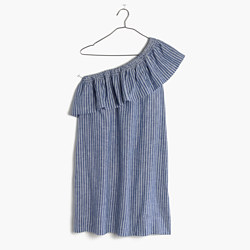 Striped One-Shoulder Dress