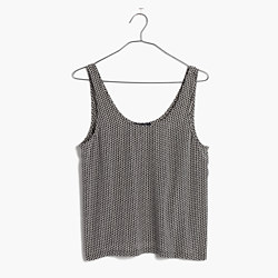 Silk Sundown Tank Top in Triangle Field