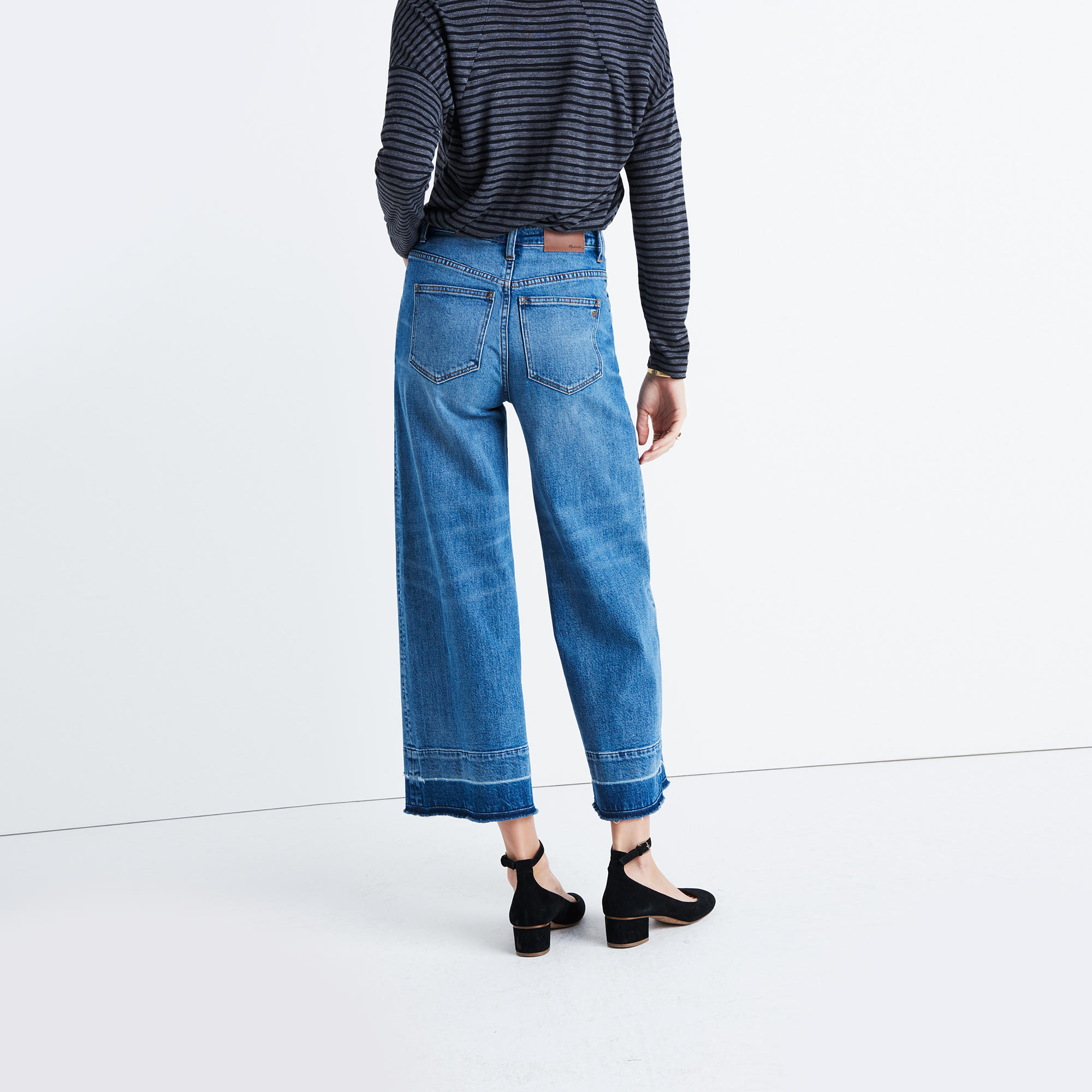 Wide-Leg Crop Jeans: Drop-Hem Edition : demi-boots & wide-leg ...