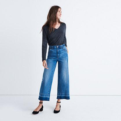 Wide-Leg Crop Jeans: Drop-Hem Edition : demi-boots & wide-leg ...