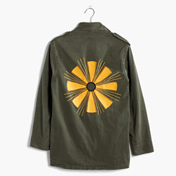 JM Drygoods™ Embroidered Vintage Army Jacket