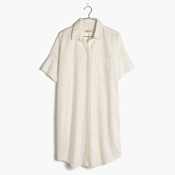 Courier Shirtdress in Pure White