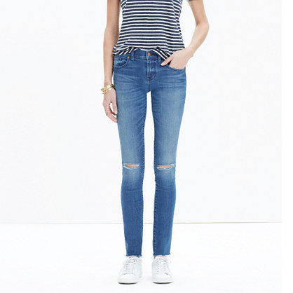 "Sale alerts for Madewell 8"" Skinny Jeans in Sunnyside Wash: Knee-Rip Edition - Covvet"