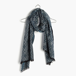 Indigo-Diamond Scarf