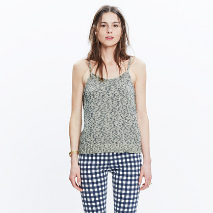 Button-Back Sweater-Tank