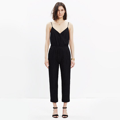 Lace Cami-Wrap Jumpsuit