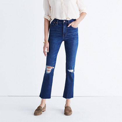 Los Feliz Crop Flare Jeans in Collin Wash