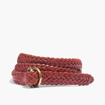 Medium Leather Braided Belt