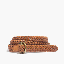 Medium Leather Braided Belt