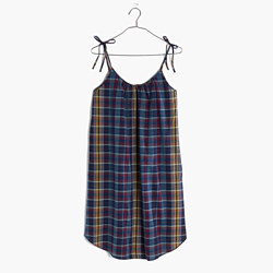 Tie-Strap Cami Dress in Madras Plaid