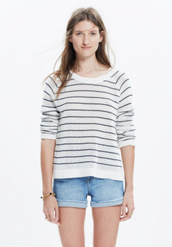 Dockline Pullover Sweater in Mariner Stripe