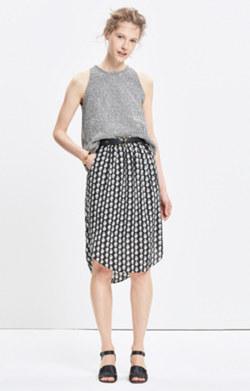 Silk Island Skirt in Bloomstamp