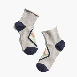 Sunset Graphic Ankle Socks