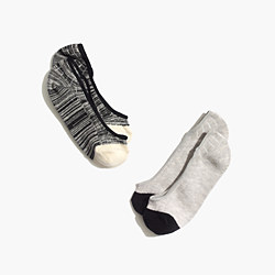 Two-Pack Space-Dyed Stripe Low Profile Socks