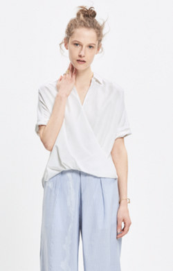 Courier Drape-Front Shirt