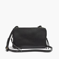The Twin-Pouch Crossbody Bag in True Black