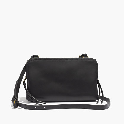 The Twin-Pouch Crossbody Bag in True Black