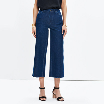 Wide-Leg Crop Jeans: Lace-Up Edition