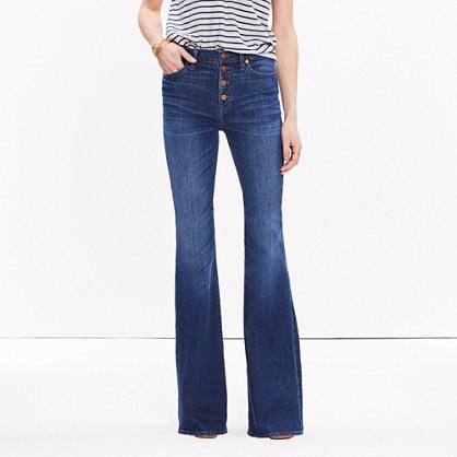 Short Flea Market Flare Jeans: Button-Front Edition