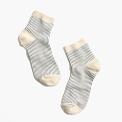 Vertical Stripe Ankle Socks