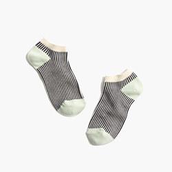 Vertical Striped Anklet Socks