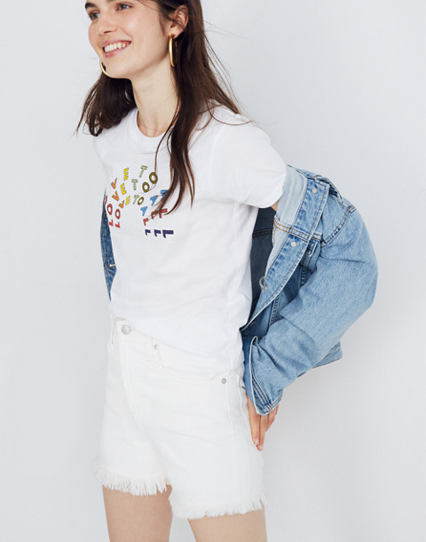 Madewell x Human Rights Campaign Love to All Pride Tee in vintage lace image 2