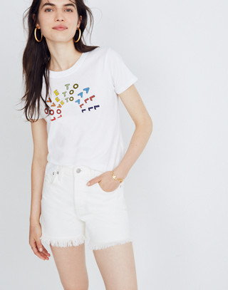 Madewell x Human Rights Campaign Love to All Pride Tee in vintage lace image 1