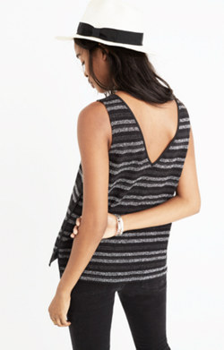 Terry V-Back Tank Top