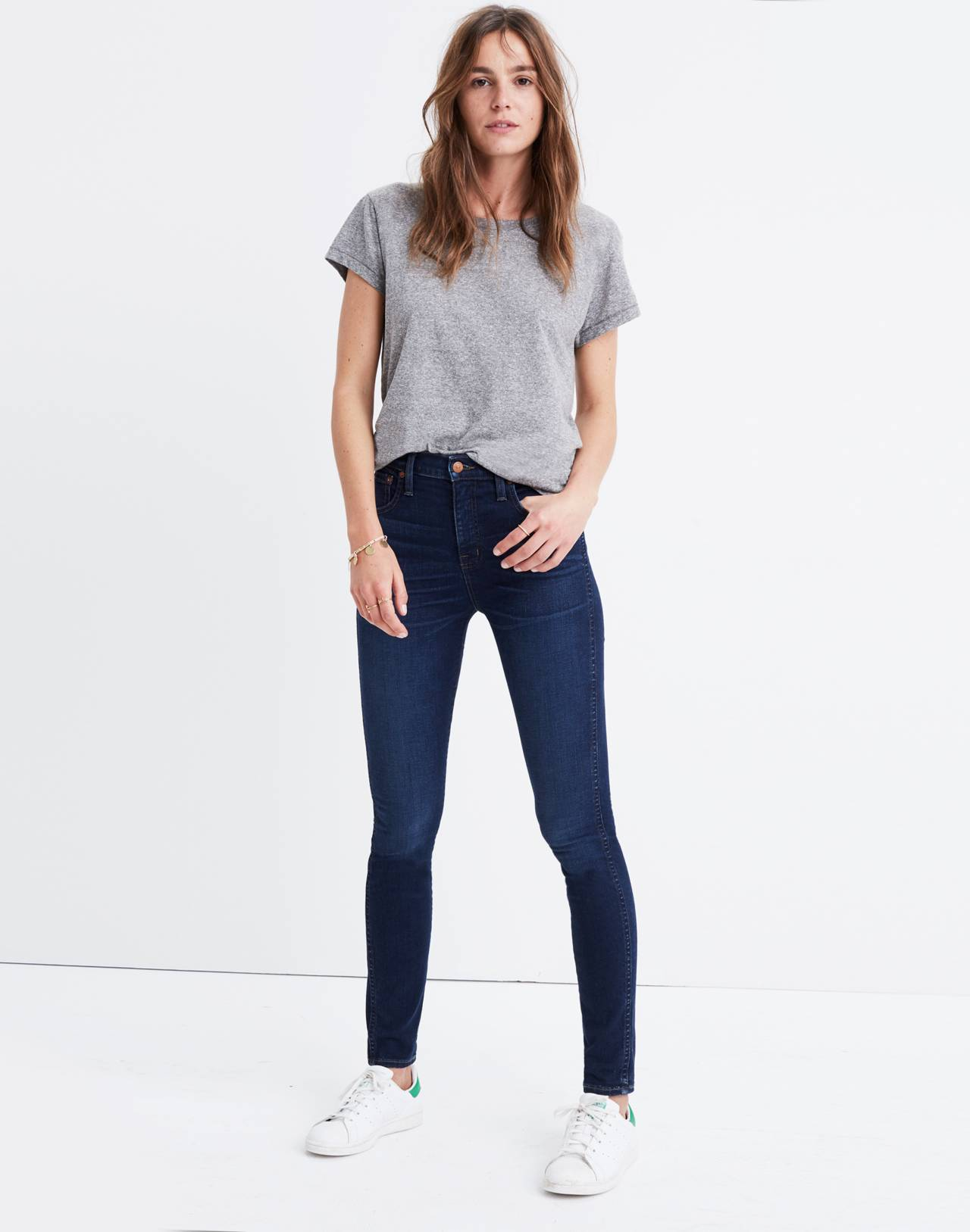 """Taller 10"""" High-Rise Skinny Jeans in Hayes Wash in hayes wash image 3"""