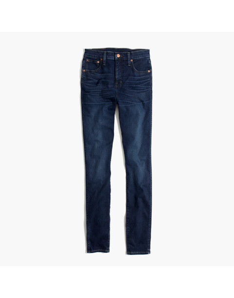 "Tall 10"" High-Rise Skinny Jeans in Hayes Wash in hayes wash image 4"