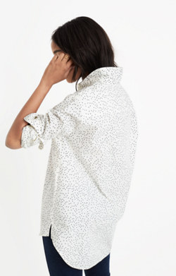 Oversized Ex-Boyfriend Shirt in Dot Scatter