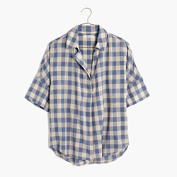 Courier Button-Back Shirt in Buffalo Check