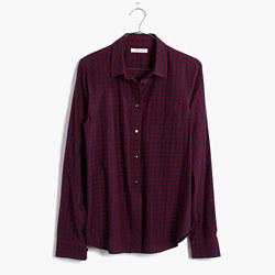Shrunken Ex-Boyfriend Shirt in Gingham Check