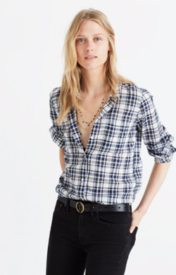 Slim Ex-Boyfriend Shirt in Coltrane Plaid