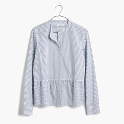 Lakeside Peplum Shirt in Stripe