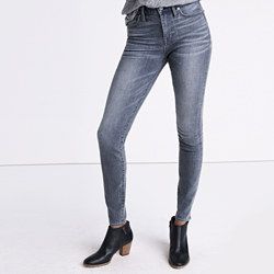 """Taller 9"""" High-Rise Skinny Jeans in Shaw Wash"""