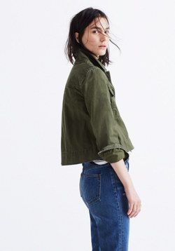 Rivet & Thread Garment-Dyed Crop Jacket