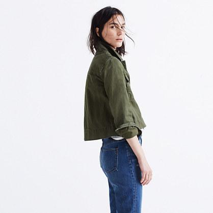 Rivet & Thread Garment-Dyed Crop Jacket