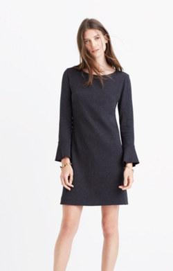 Knit Bell-Sleeve Dress