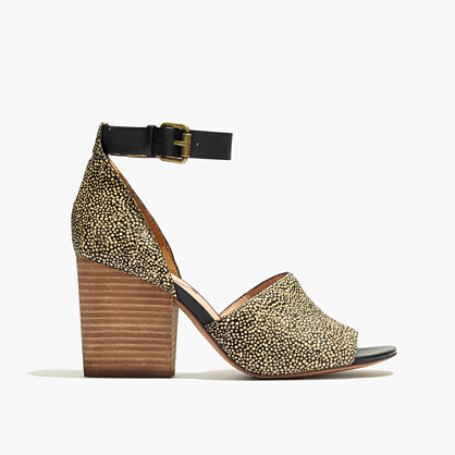 The Alena Sandal in Dotted Calf Hair