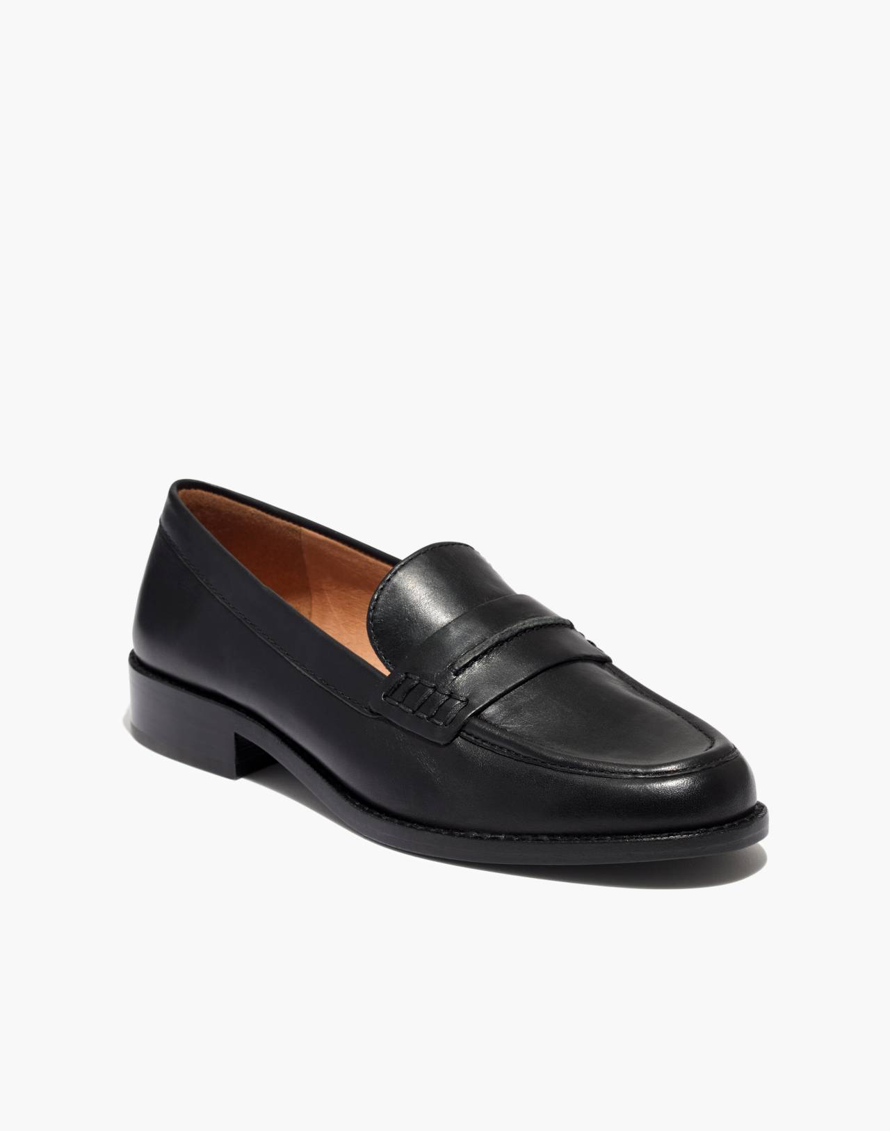 The Elinor Loafer in Leather in true black image 2