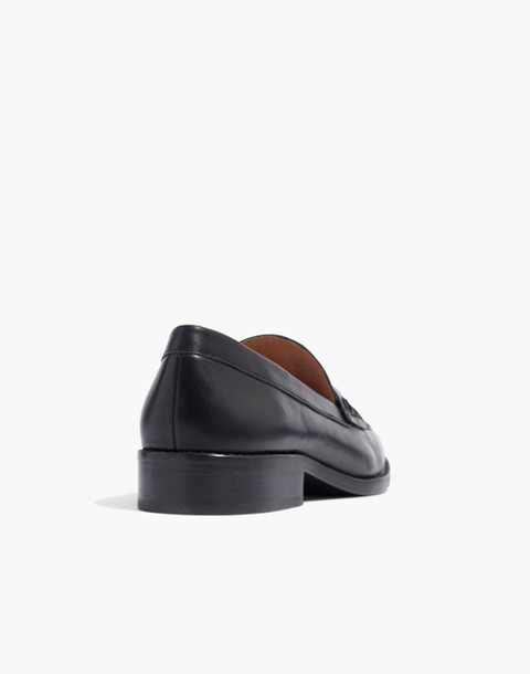 The Elinor Loafer in Leather in true black image 3