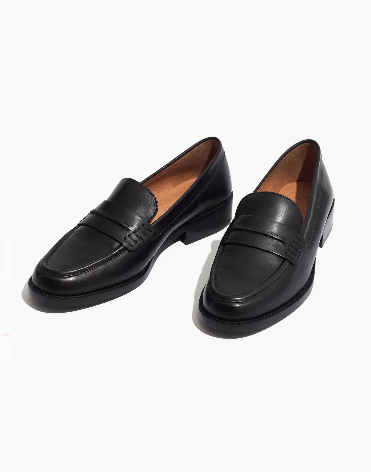 The Elinor Loafer in Leather in true black image 1