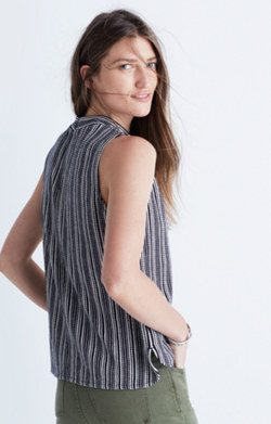 Striped Mockneck Tank Top