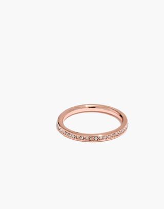 Mon Petit Pavé Ring in rose gold image 1