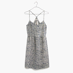 Silk Sunlight Cami Dress in Painted Feathers